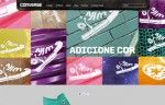 hot site developed to promote Converse Colors Collection in Brazil.