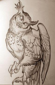engravin mod Drawings Of Owls, Cool Drawings, Animal Drawings, Pencil Drawings, Tattoo Flash Sheet, Tattoo Flash Art, Dragon Sketch, Tattoo Sketches, Drawing Sketches