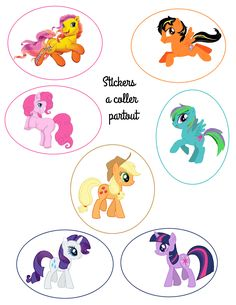 stickers My Little Pony My Little Pony Birthday, My Little Pony Party, 4th Birthday Parties, 5th Birthday, Anniversaire My Little Pony, Little Poney, Candy Party, Art Blog, Pikachu