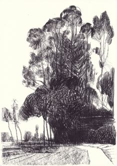 Landscapes by Andrea Serio Landscape Drawing Tutorial, Landscape Drawings, Landscape Art, Landscape Design, Art And Illustration, Tree Drawings Pencil, Nature Sketch, Artist Sketchbook, Building Art