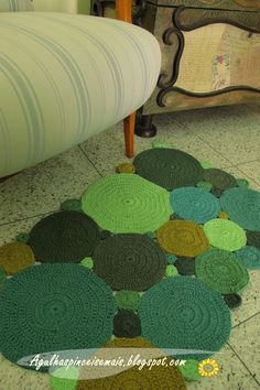 Shows a rug here, but I have circles to put together for a blanket...=)