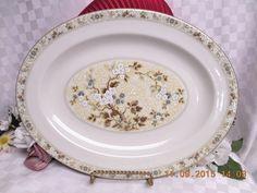 Royal Doulton China dinnerware Mandalay Pattern #TC1079 Oval Serving Platter & Royal doulton China Dinnerware Berkshire Pattern# TC1021 set 2 bread ...