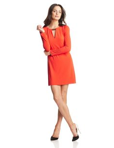 Vince Camuto Women's Long-Sleeve Shift Dress with Keyhole Neck and Hardware ($118.00) http://www.amazon.com/exec/obidos/ASIN/B00GFT9WRW/hpb2-20/ASIN/B00GFT9WRW