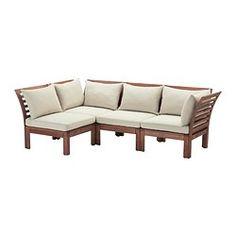 ÄPPLARÖ / HÅLLÖ sofá 4 plazas esquina exterior, tinte marrón marrón, beige fondo: 80 cm Altura: 73 cm Ancho derecha: 223 cm
