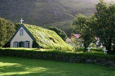 Sod roof Church at Hof, Iceland