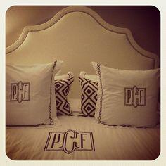 Elegant Monogram for the bed