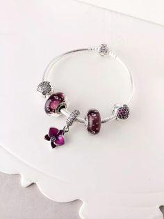 50% OFF!!! $159 Pandora Charm Bracelet Purple. Hot Sale!!! SKU: CB01659 - PANDORA Bracelet Ideas
