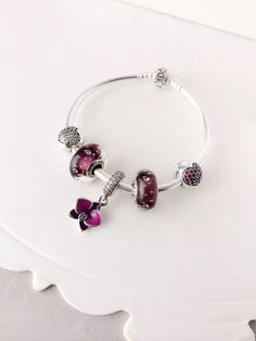 50% OFF!!! $159 Pandora Charm Bracelet Purple. Hot Sale!!! SKU: CB01659 - PANDORA Bracelet Ideas