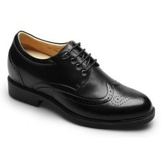 Fashion Brogues Men Dress Best height Increasing Shoes Extra Height 3.15 Inch #256A01-2