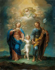The Holy Family - Jerónimo Ezquerra Catholic Art, Catholic Saints, Religious Art, Roman Catholic, Religious Pictures, Jesus Pictures, Holy Family Pictures, Jesus Mary And Joseph, Saint Joseph