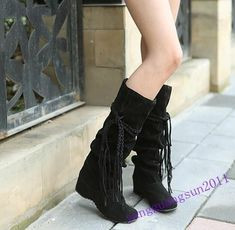Hot Sale Ladies Shoes Flats Knee High Boots Faux Suede Pull On Casual Autumn Sz - Fall Boots - Ideas of Fall Boots - Hot Sale Ladies Shoes Flats Knee High Boots Faux Suede Pull On Casual Autumn Sz Price : Long Boots, Knee High Boots, Motorcycle Shoes, Slouchy Boots, Latest Shoe Trends, Snow Boots Women, Martin Boots, Boots For Sale, Leather Boots