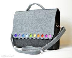 Torba na laptopa 15,6. Filcowa teczka, torba z kolorowymi kropkami.. $46
