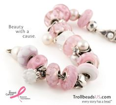 Trollbeads Pink Empowerment Beads are in for Breast Cancer Awareness Month! #trollbeads