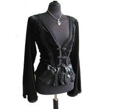 romantic velvet jacket....love ♥