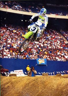 1987 Team Kawasaki's Jeff Ward would win the Houston Astrodome in the 250 main event.