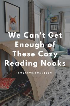 Looking for inspiration to create the perfect reading spot in your home? This list of cozy reading nooks should do the trick!  #books #readingnook #cozy