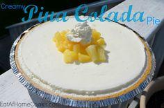 Creamy Pina Colada Pie - No Bake!
