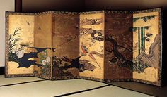 Japanese Byobu screen