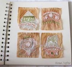 Beyond the Enclosure - teabag art by Velvet Moth Studio