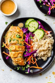 Peanut-Braised Chicken Breasts - Skinnytaste Healthy Recipes, New Recipes, Dinner Recipes, Cooking Recipes, Healthy Foods, Dinner Ideas, Lunch Recipes, Delicious Recipes, Yummy Food