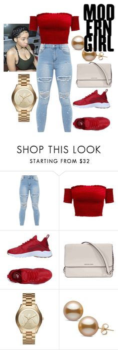 """Untitled #4"" by ray-ne on Polyvore featuring NIKE and Michael Kors"