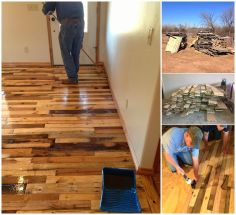 pallet projects | Diy Projects: DIY Pallet Wood Flooring LOVE IT!