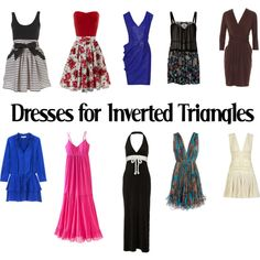 Dresses for Inverted Triangles-SS by kittyfantastica on Polyvore