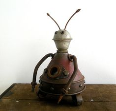 'Rollerbot' (2009) by artist Benoit Lavoie. Assemblage Robot Sculpture. via Boing! Boing! on Flickr