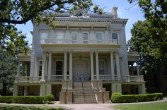 The Bradish Johnson House - Paris-trained architect James Freret designed this French Second Empire-style mansion in New Orleans, Louisiana, which was built in 1872 for industrialist Bradish Johnson (1811-1892) at a cost of $100,000 (that's more than $1.6 million today). Through his distilleries & his investments in real estate, Johnson became very wealthy. Johnson was the maternal grandfather of Harry Payne Whitney. Since 1929 it has been the private Louise S. McGehee School for girls