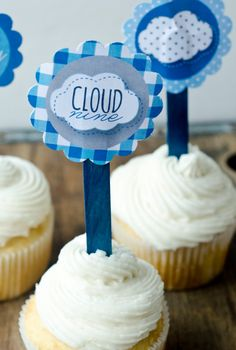 Cloud Nine Boy Baby Shower PRINTABLE Party Tag by lovetheday