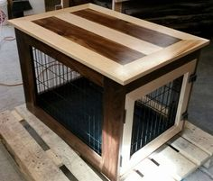 Hardwood Kennel Table by AllAmericanWoodworks on Etsy