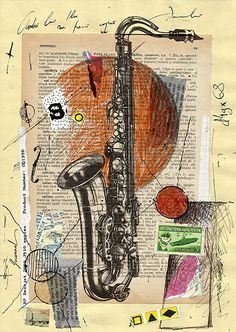 Jazz - original collage art