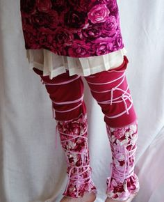 Leg Warmers in Rose Upcycled Woman's Clothing Eco Funky by cutrag, $34.56