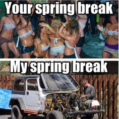 Wish the weather was nice enough for this kind of spring break