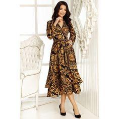 Rochia Raisa este o rochie deosebit de eleganta, potrivita pentru un eveniment special din viata ta. Compozitie: 97% Poliester, 3% Lycra Rochii Crissmar Wrap Dress, Dresses With Sleeves, Long Sleeve, Model, Fashion, Moda, Sleeve Dresses, Long Dress Patterns