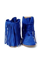 FRINGE BOOTS electric blue