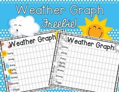 Enjoy this FREEBIE from Miss Hellen's Hippos.8 different weather graphs are included in this freebie...4 color graphs, 4 b/w graphs.