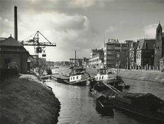 Breda. Etnafabriek aan de Tramsingel net na de Tweede Wereldoorlog, rond 1947.