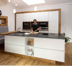 Innovation Küchen - April Home Kitchen Cabinet Design, Modern Kitchen Design, Kitchen Storage, Kitchen Cabinets, Küchen Design, Interior Design, Cocina Office, Kitchen Images, Cuisines Design