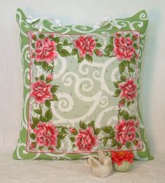 Rose Vintage Handkerchief pillow