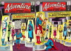 Adventure#354 Adult Legion of Super Heroes Original/Right-Curt Swan  Redone/Right -John Watson