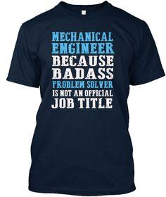 Mechanical Engineer T Shirt New Navy áo T-Shirt Front