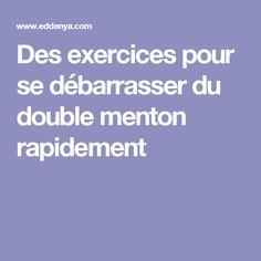 Des exercices pour se débarrasser du double menton rapidement