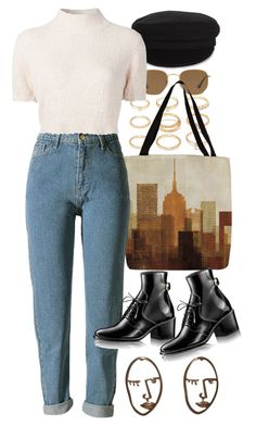 """Untitled #11176"" by nikka-phillips ❤ liked on Polyvore featuring Forever 21, Ray-Ban, Thumbprintz, Étoile Isabel Marant and Rachel Comey"