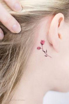 The Ultimate Ear Piercings Types Guide Mini Tattoos, Cute Tiny Tattoos, Dainty Tattoos, Small Flower Tattoos, Little Tattoos, Beautiful Tattoos, Body Art Tattoos, Tatoos, Soft Tattoo