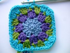 """So, as promised in my previous post, here is the pattern for my new granny square, named """"Nuthatch"""" in honour of this month's British Birds..."""