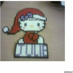 Hello Kitty Christmas hama beads by malouloute73
