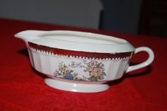 Vintage Cronin China Co Gravy Boat Bluebird by CRAZYMARYSFINDS