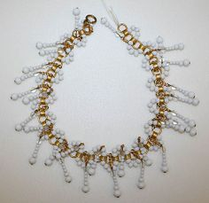 Pierre Balmain Necklace from 1950-1955 French, glass, metal. House of Balmain.