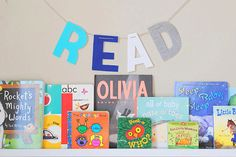 Read Fabric Letter Banner Custom Name Banner by LillsLoft on Etsy, $20.00